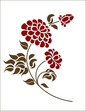 flor: floral element Illustration