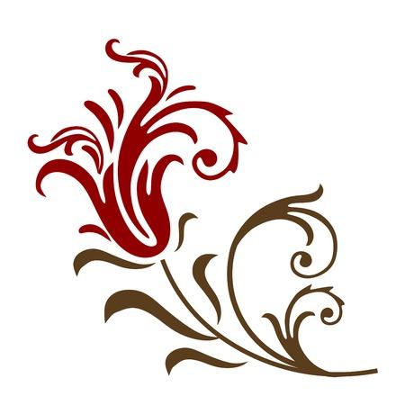 gladiolus: floral element Illustration
