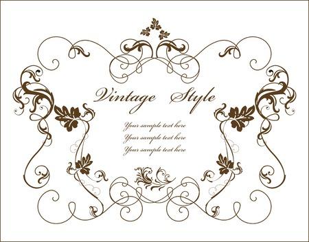 bindweed: vintage floral frame