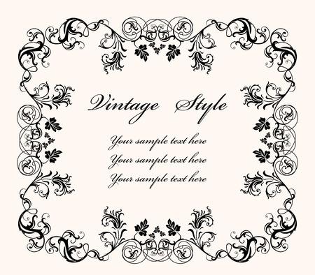 vintage floral frame Standard-Bild - 117371095
