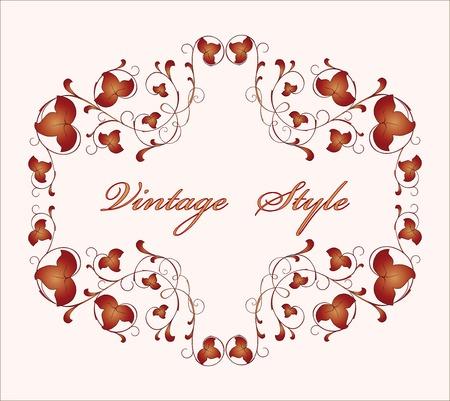 ivy vine: vintage floral frame