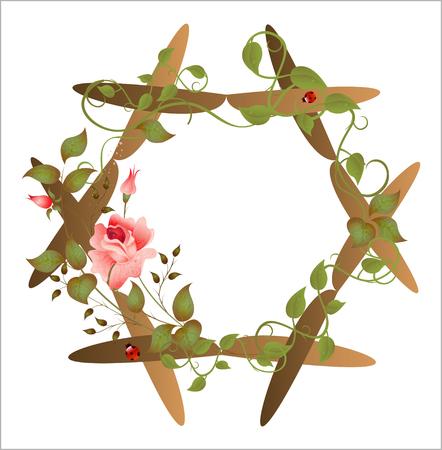 vintage floral frame Stock Vector - 6219358
