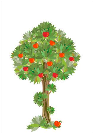 eden:  stilisierte Apfelbaum Illustration