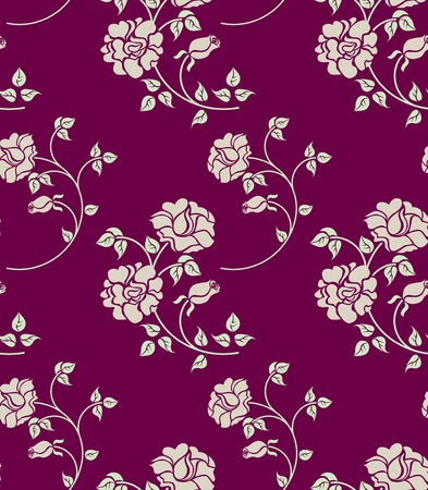 rosa: floral seamless texture