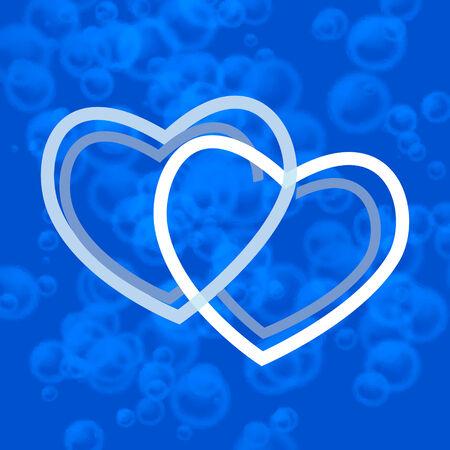 air bladder: cuore azzurro Vettoriali