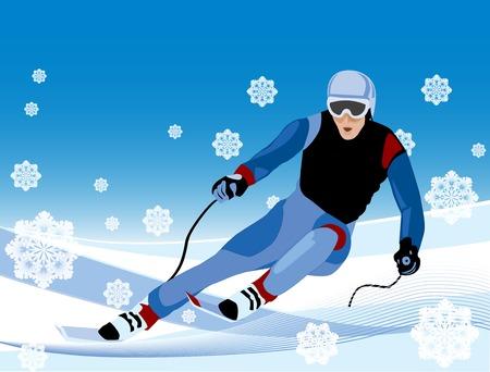 snow: skier