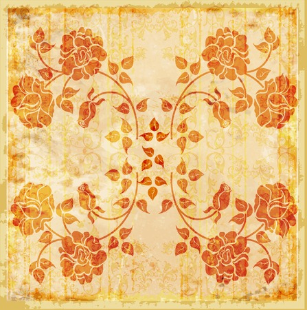 vintage background with roses Illustration
