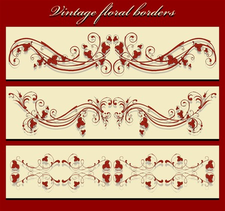vintage borders Stock Vector - 6371538