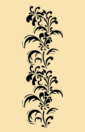 creeping: floral border Illustration