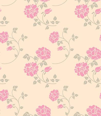 flores vintage: seamless texture