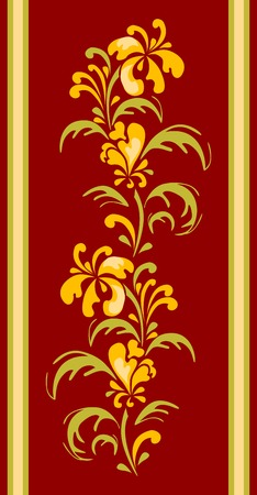 floral designe for carpet Stock Vector - 6475897