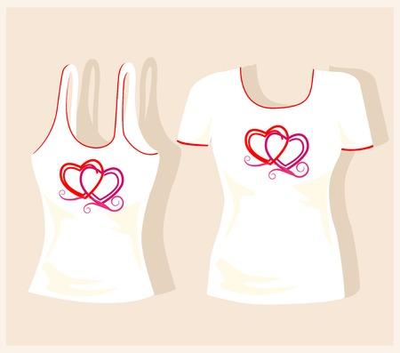 garment label: t-shirt design Illustration