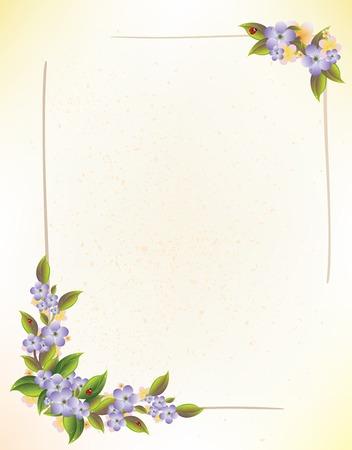 border frame: floral frame Illustration