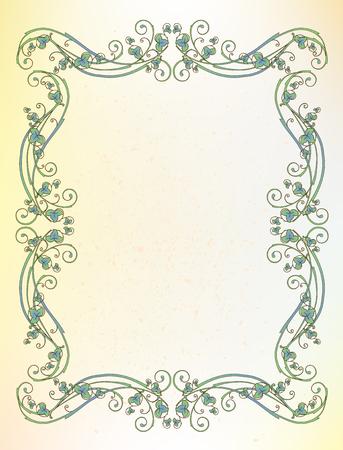 bindweed: floral frame Illustration