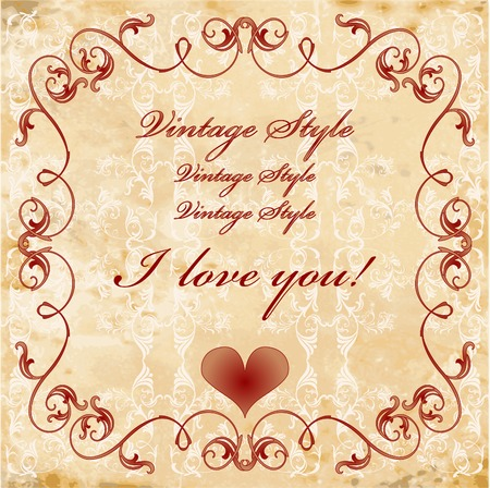 vinage valentines day card Stock Vector - 6584800