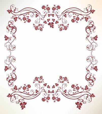 flor: vintage frame