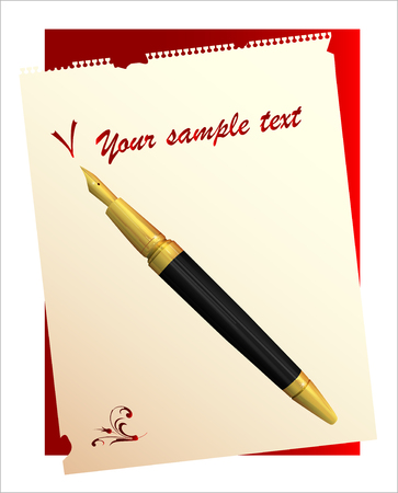 writing pad: vintage pen and paper