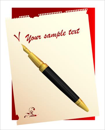 autographs: vintage pen and paper