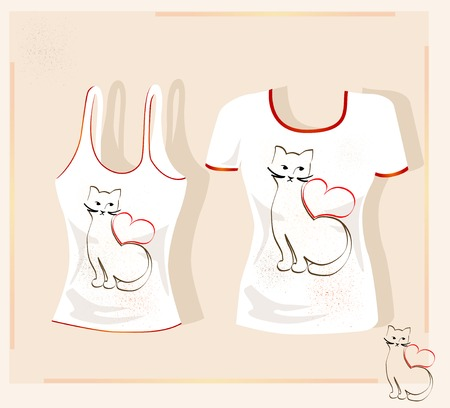 tank top: t-shirt design Illustration