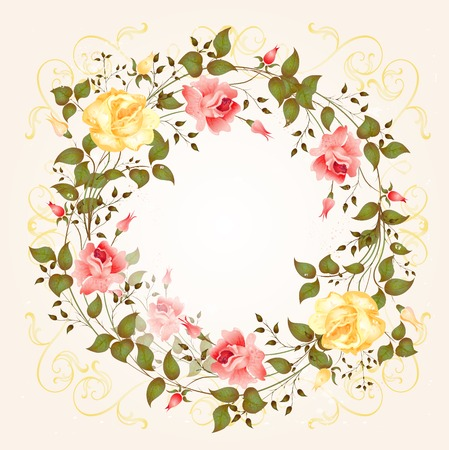 background with roses Stock Vector - 6630292