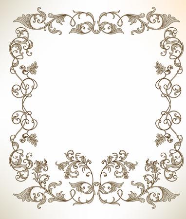 gladiolus: vintage frame