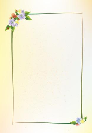 flor: floral frame Illustration