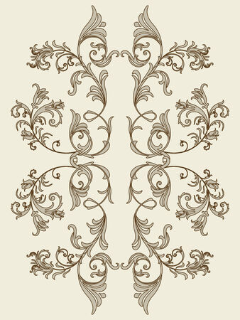 vintage floral element for seamless texture Vector
