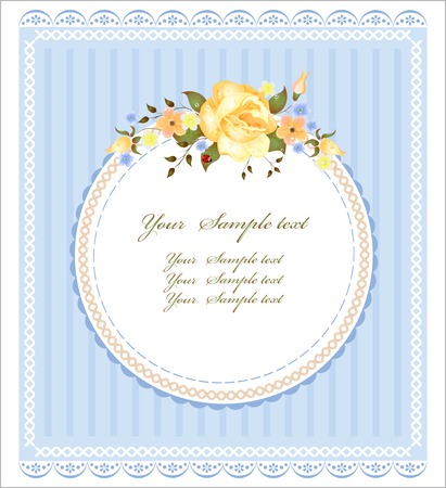 patchwork: vintage greeting card