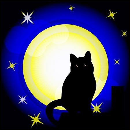 superstitious: Luna piena  Vettoriali