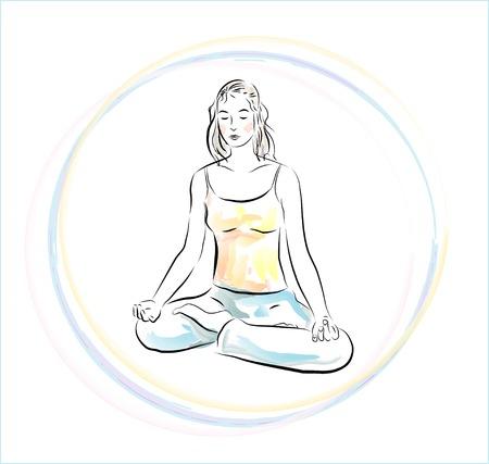 yoga practice Stock Vector - 7097009