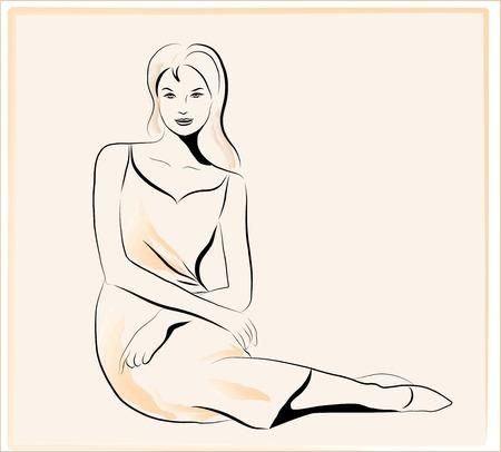 women sitting: beautiful women