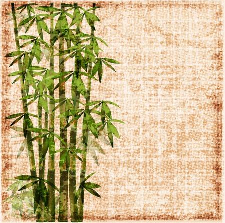 chaume: arri�re-plan de bambou glauques  Illustration