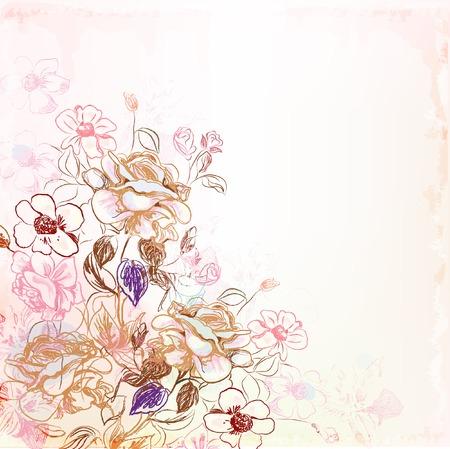 flores vintage: floral background