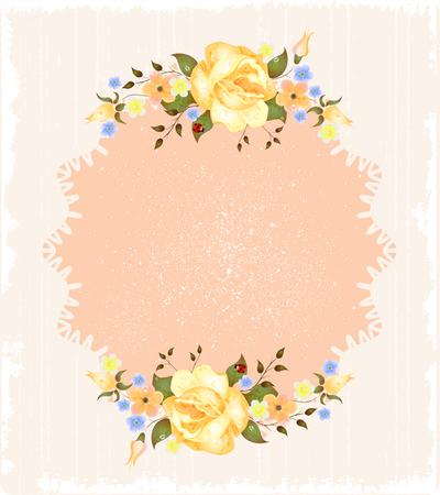 flor: vintage greeting card