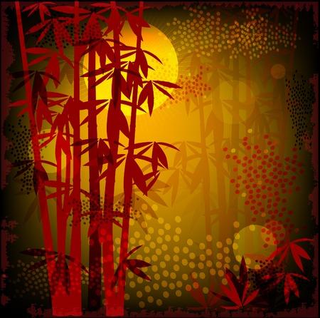 japones bambu: bosque de bamb�  Vectores