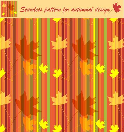 autumnal seamless texture Stock Vector - 7760647