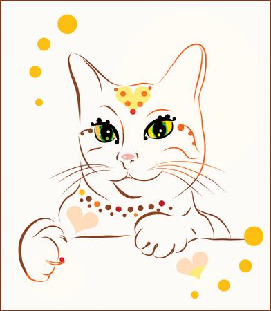 purr: fashionable cat Illustration