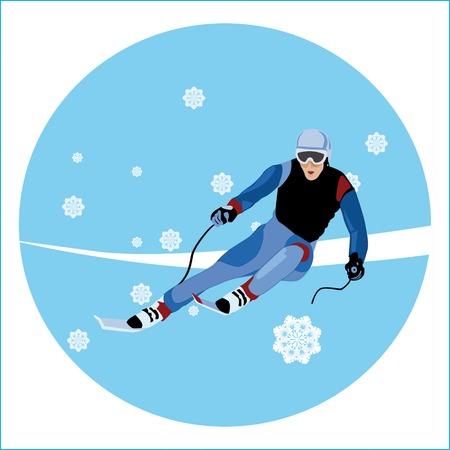 skier Vector