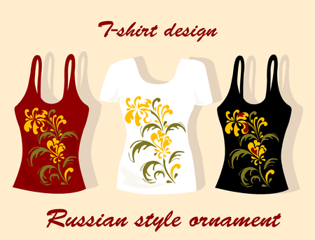 Russian style t-shirt design Vector