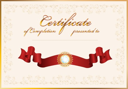 certificate of completion.Template. Stock Vector - 8089421
