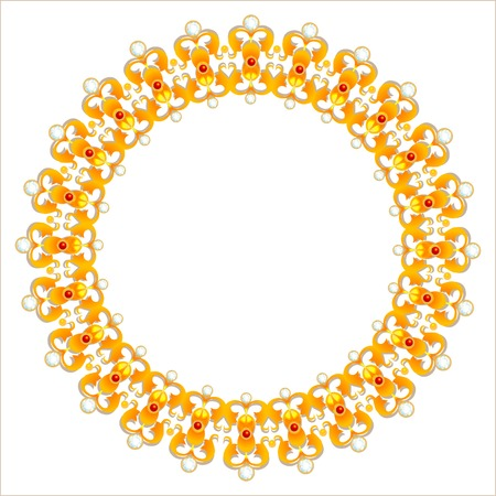gold necklace with diamonds 向量圖像