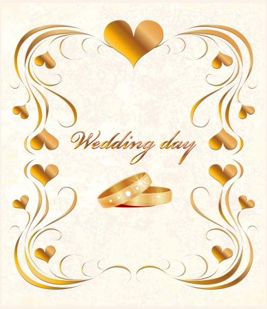 scheda sposa vintage con anelli