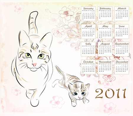 christmas pussy: calendar 2011 with cat and  kitten