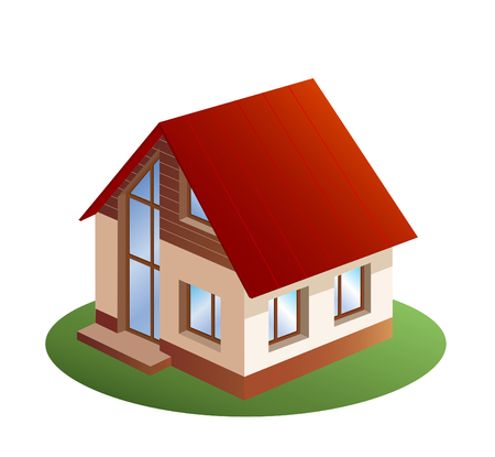 model of three dimensions family  house Stock Vector - 8376611