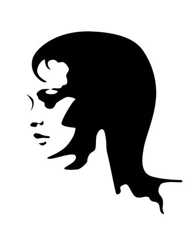 blanco y negro retrato de la joven y bella mujer