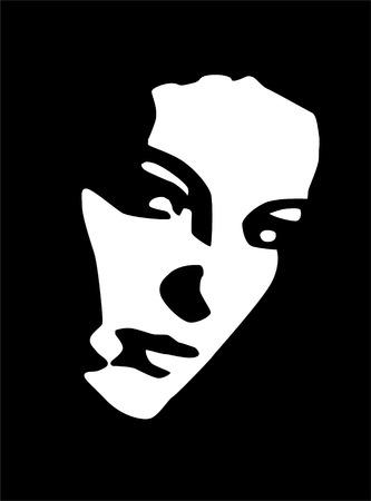 ritratto in bianco e nero di bella giovane donna