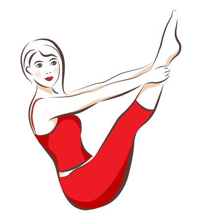 girl doing shaping exercise