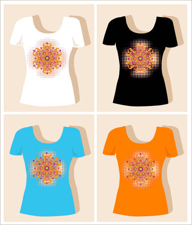 abstract t-shirt design   Stock Vector - 8764139
