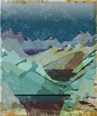 blizzards: Norway fjord landscape Illustration