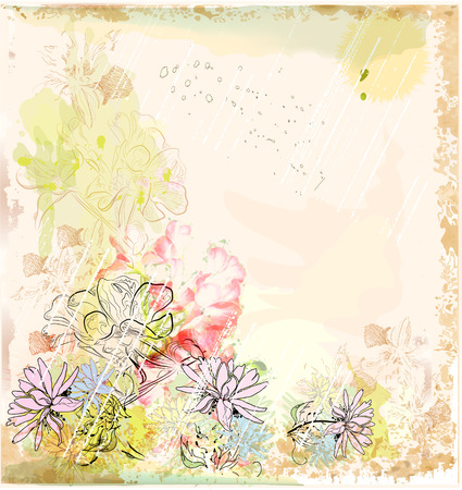 abstract floral achtergrond Vector Illustratie
